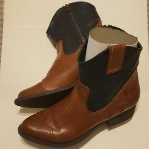 Women's MIA Jayney CGB Cognac/Blue Western Boots